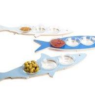 דג - מגש דקורטיבי עם צלוחיות לשולחן החג