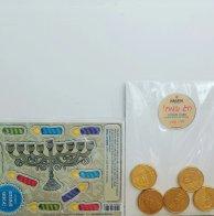 מתנה לחנוכה - חנוכיה עם מטבעות שוקולד